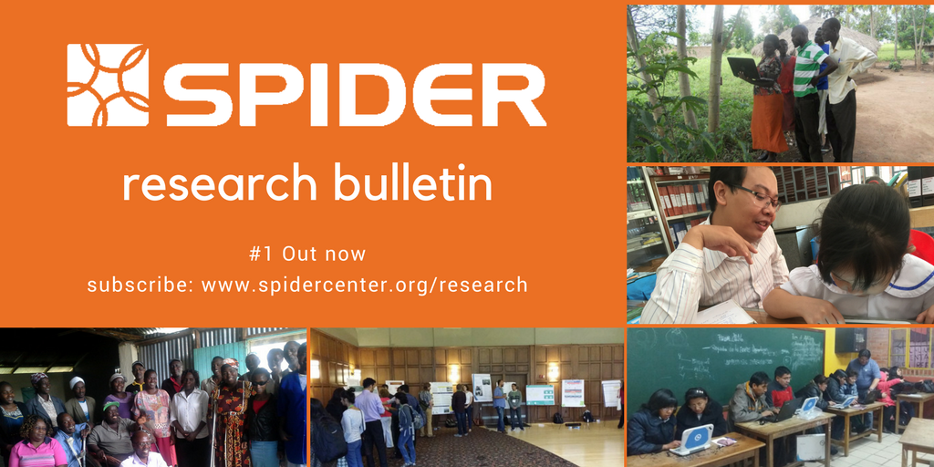 SPIDER Research bulletin #1 is out now